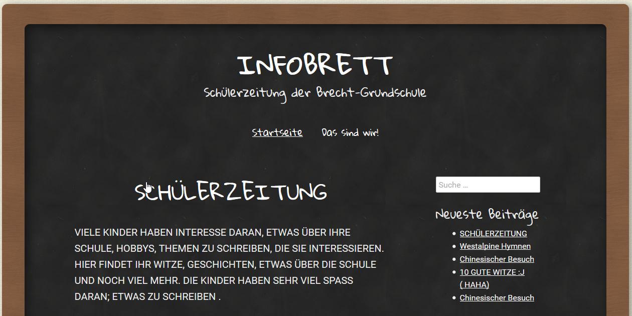 Screenshot der Schülerzeitung der Brecht-Grundschule