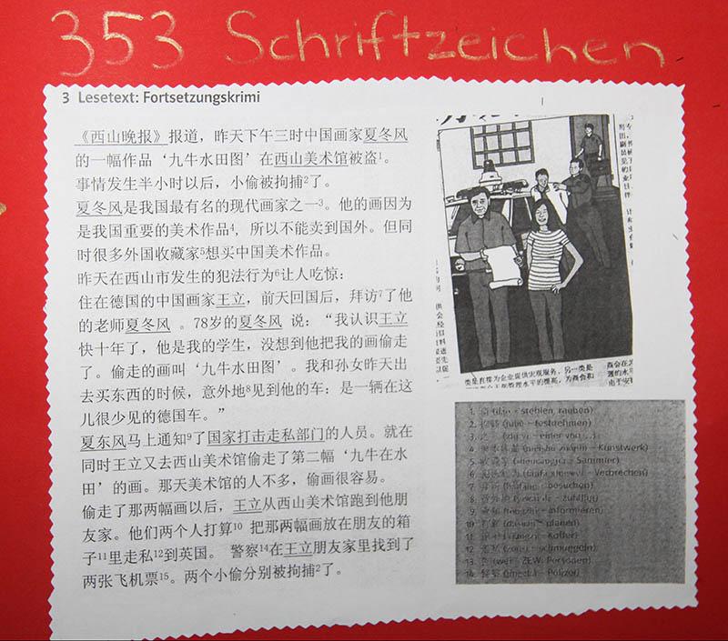 Chinesisch-Plakat