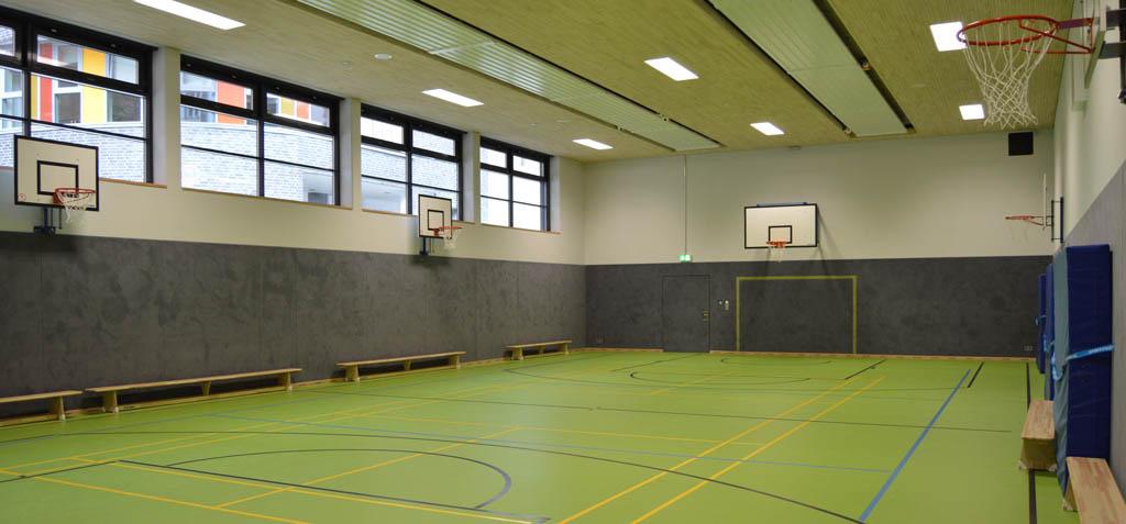 Die neue Sporthalle der Brecht-Schule