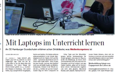 """""""Mit Laptops im Unterricht lernen"""": Die Brecht-Schule im Hamburger Abendblatt"""