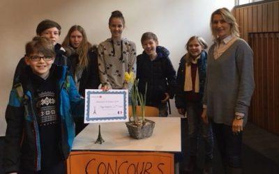 1. Platz beim Vorlesewettbewerb Französisch