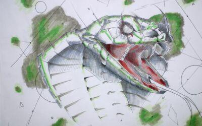 """""""Geometrische Abstraktion"""" – Stadtteilschule Kunstkurs S12"""